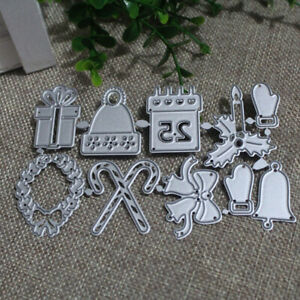 Christmas-Cutting-Dies-Stick-Candle-Gift-Box-Bells-Gloves-Metal-Scrapbookin-esLF