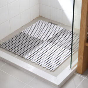 Details About Bath Mat Non Slip Diy Stitching Impermeable Drain Feet Pad Shower Floor Rug O3