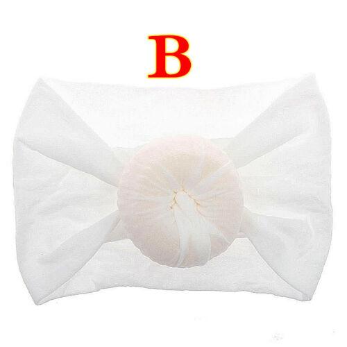 Baby Girl Headband Newborn Kids Knotted Bow Turban Hair Band Headwrap Accessory