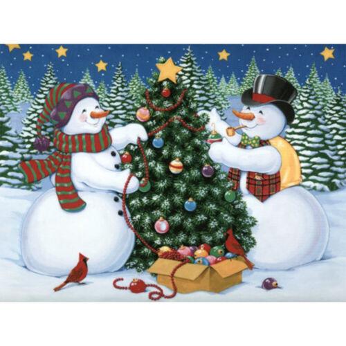 5D Full Drill Diamond Painting Art Craft Snowman Christmas Kits Art Decoration
