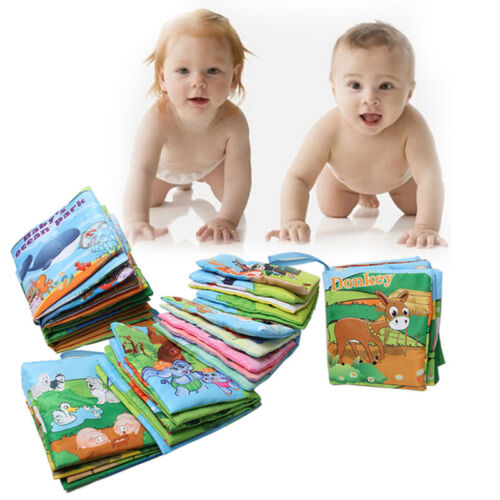 Baby Kids Cloth Book Picture Words Cognize Books Intelligence Developmental Toys