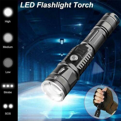 New 400000LM Led Strong Light Flashlight Mulfuntion USB Torch L2 Charging X V7N5