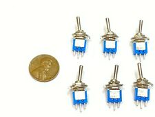 6 Pieces Sub Miniature Toggle Switch Onon 3 Pins Latching Lock 5mm G29