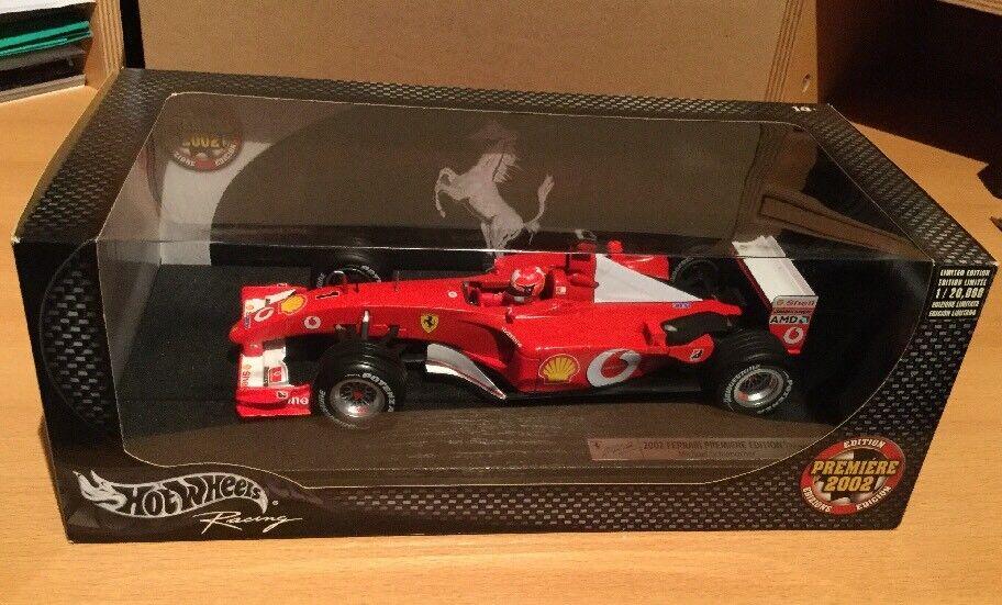 Ferrari f2002 f1 Michael Schumacher premiere edition 2002 NOUVEAU & NEUF dans sa boîte 1 18 ( 5.13)
