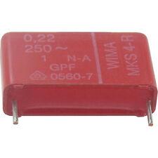 20 St WIMA MKS4R Folienkondensator Kondensator 220nF 0,22µF 250VAC 20% RM-22,5