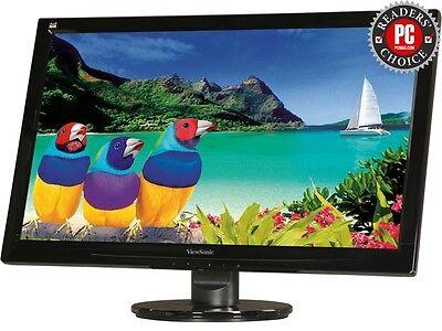 "ViewSonic VA2446M-LED 24"" Full HD 1080P TN Monitor, 1000:1, 300cd/m2, VGA&DVI-D,"