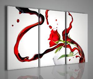 Quadro moderno rose wine stampa su tela quadri moderni for Quadri d arredo moderni