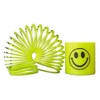 "WHOLESALE 100 MINI SLINKY COIL SPRINGS 35MM 1.4"" SMILE FACE PARTY FAVOR CARNIVAL"