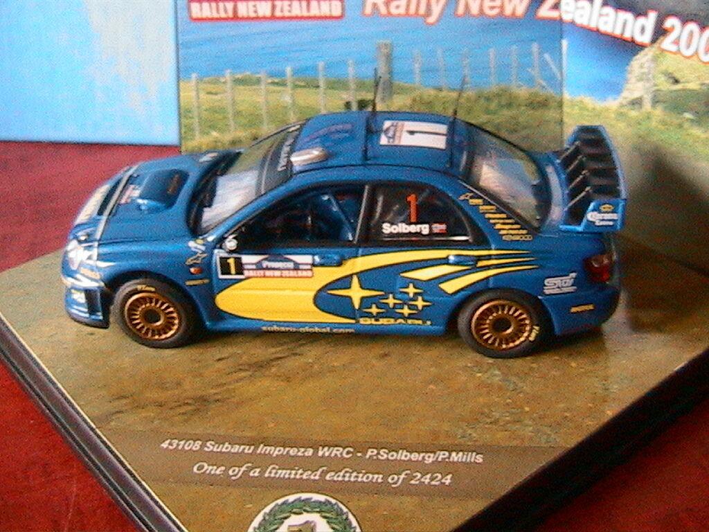 SUBARU IMPREZA WRC  1 RALLY NEW ZEALAND 2003 SOLBERG MILLS VITESSE 43108 1 43