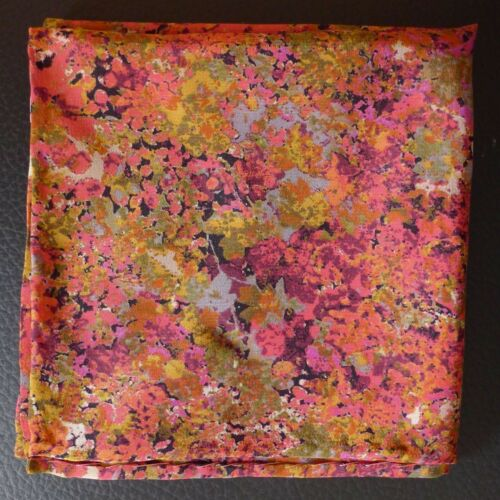 Flower champagne Liberty of London silk pocket square