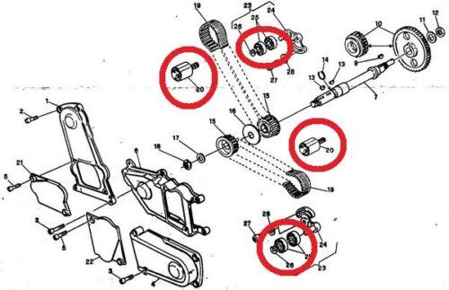 Ducati motor timing belt bearing tensor rollers tensioner set