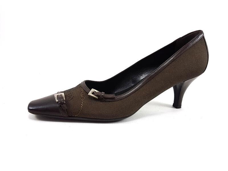 Prada  Marronee Canvas Poited Toe Pump, donna 65533;s scarpe Dimensione US 7  EU 37  marchi di stilisti economici