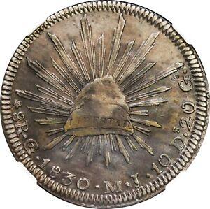 Mexico-8-Reales-Go-1830-M-J-Guanajuato-Mint-NGC-XF45-KM-377-8
