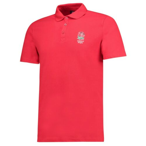 England Rugby Men/'s Core Polo Shirt New Red