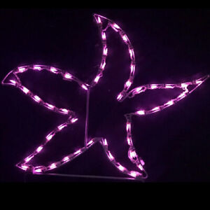 Tropical-Summer-Pool-Yard-Art-Decoration-LED-Purple-Starfish-Lighted-Display