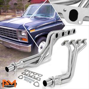 For-80-82-F150-F250-F350-5-8-6-6-V8-Stainless-Steel-Long-Tube-4-1-Exhaust-Header