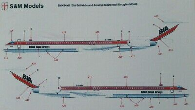 S /& M Modèles British island airways BIA DC9 MD-80 1//144 scale Aircraft Kit