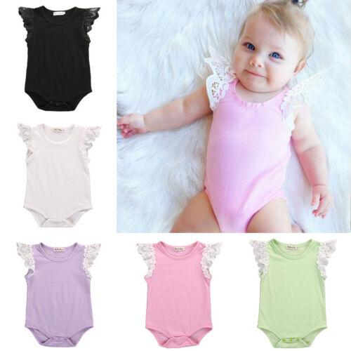 US-STOCK Newborn Kids Baby Girl Bodysuit Romper Jumpsuit Playsuit Outfit Clothes