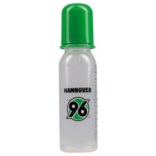 Hannover 96 Baby Trinkflasche, Nuckelflasche, Flasche Logo  H96- plus gratis Les