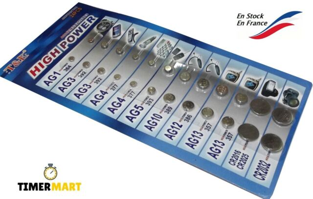 Paquet de 24 Pièce Pile Bouton Assortie 9 Référence Montre Télécommande EXP 2023