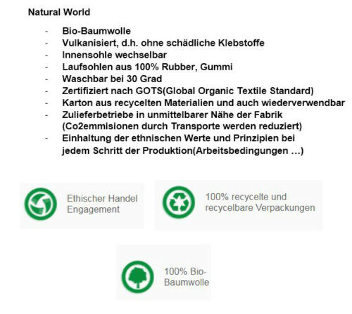 Natural World Schuh 613E642 wine Damen Mokassin Baumwolle waschbar REDUZIERT!