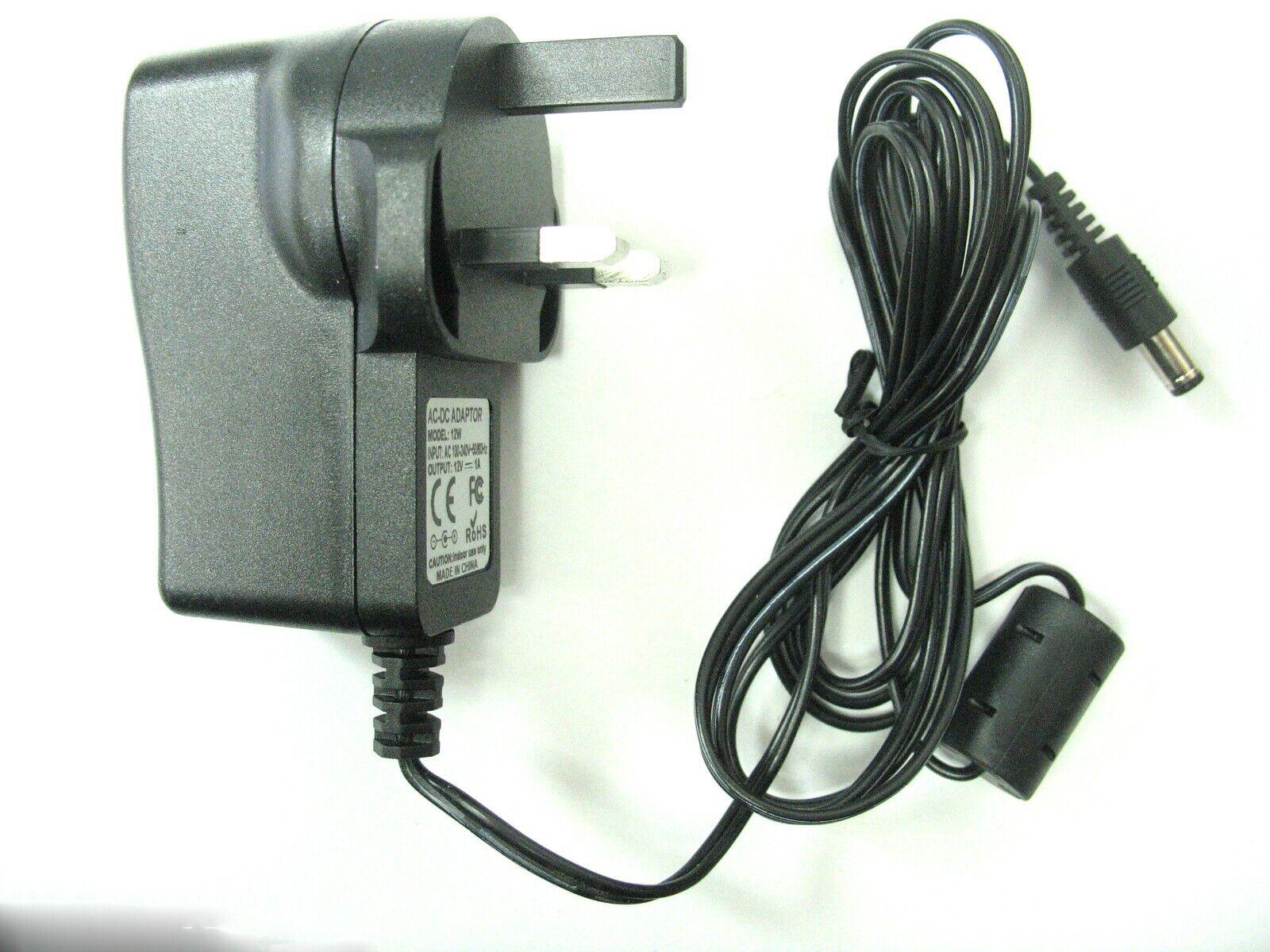 1 amp 12 volt AC-DC Mains Regulated Power Adaptor/Supply/Charger (12 watt)
