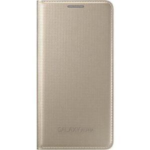 Samsung-Flip-Premium-Case-Cover-for-Samsung-Galaxy-Alpha-Gold