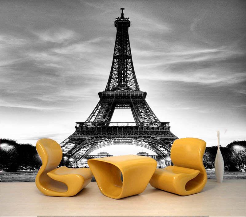 Fresh Eiffel Tower 3D Full Wall Mural Photo Wallpaper Printing Home Kids Decor