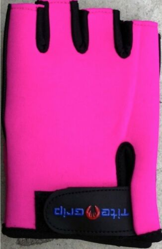 Tite Grip Neoprene Fitness Fuchsia Gloves for Pole Dance /& Weight Training