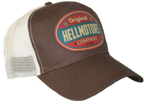 Hell Motors ORIGINALE Trucker Cap v8 Old School Hot Rod Biker Basecap Berretto Cappuccio