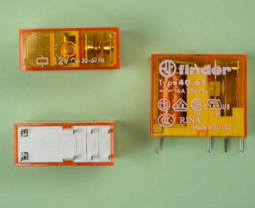 Finder 40.61 Printrelais 230V AC 16A 1x Wechsler Umschalter 40618230 5,0mm