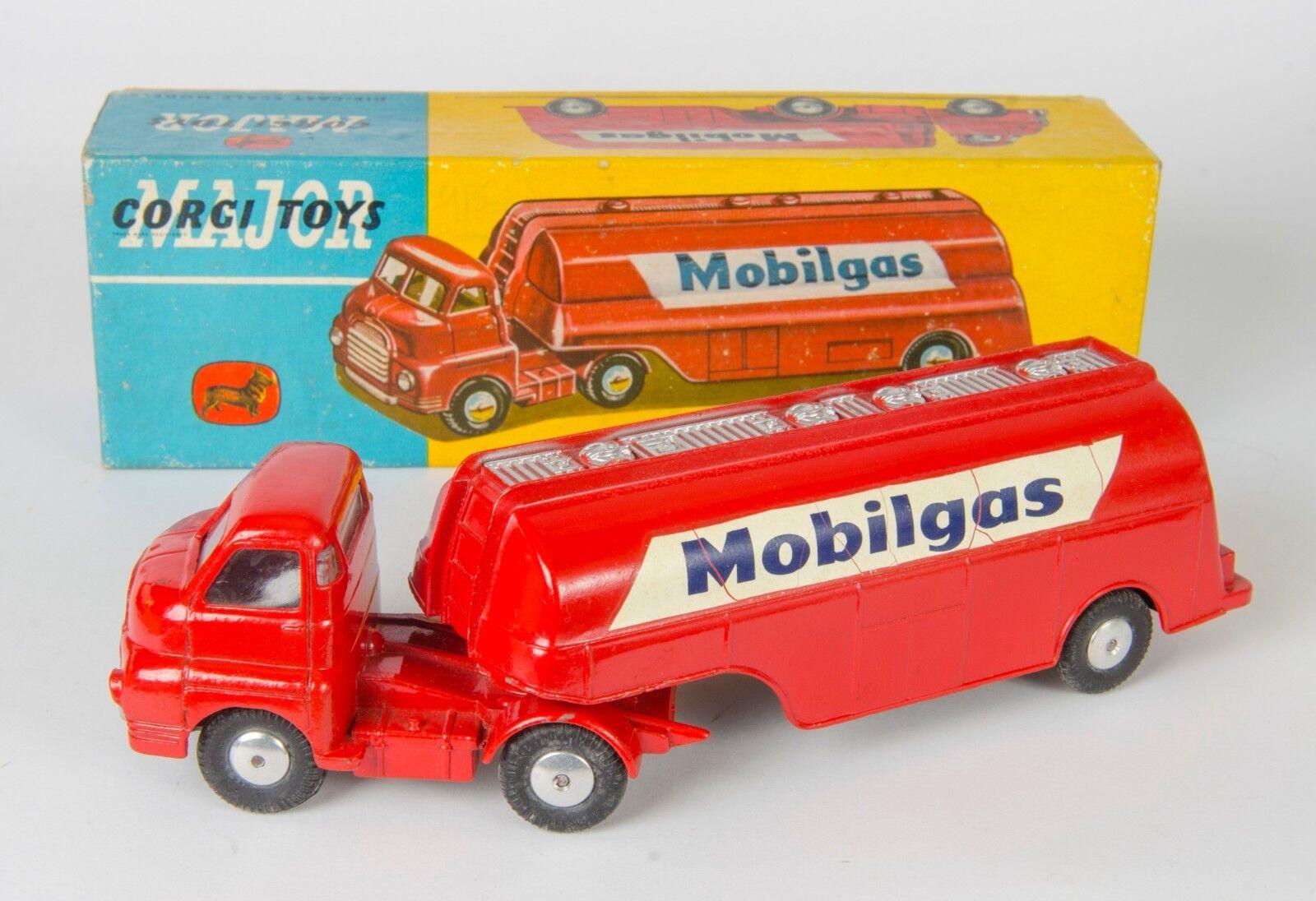 Corgi Major 1 Mobilgas gasolina petrolero. Near-mint & boxed. Original Década de 1950