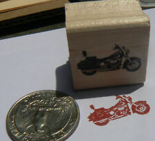 """Miniature motorcycle rubber stamp WM 0.4x0.9"""" P24"""
