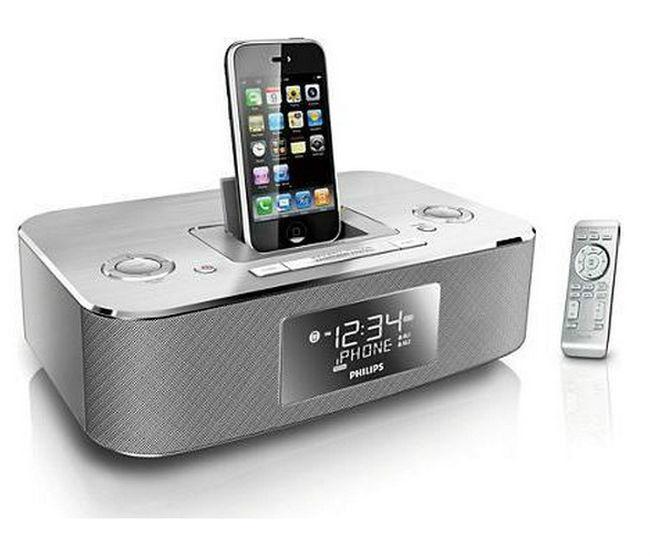 Philips DC290/37 Aluminum Docking Clock Radio for iPod iPhone