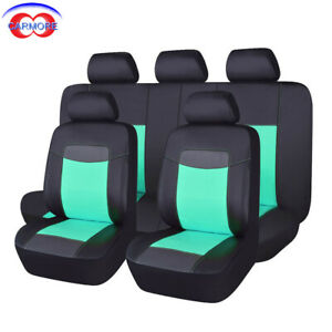 Astounding Details About 11 Pcs Faux Leather Universal Seat Covers Waterproof Green Fit Car Truck Suv Van Pdpeps Interior Chair Design Pdpepsorg