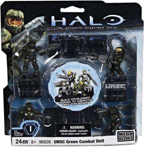 Mega Bloks Halo UNSC Grün Combat Unit Set  96826