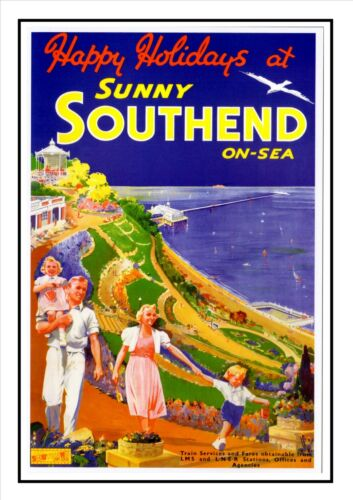 Southend On Sea 7 Railway Vintage Retro Oldschool Old Good Price Poster