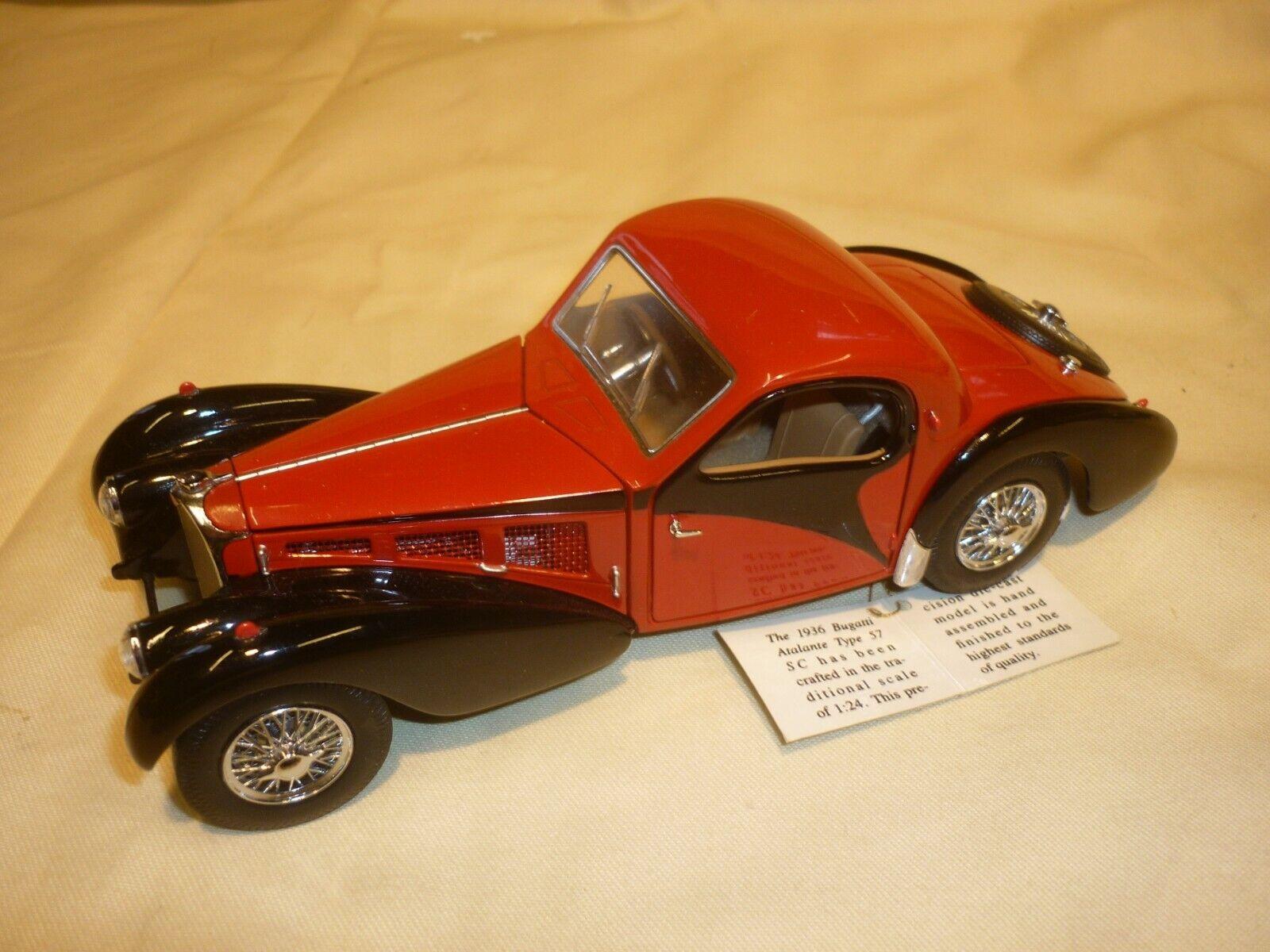 Pre-owned Franklin mint 1936 Bugatti Atlantic type 57 SC, no Box, loose,