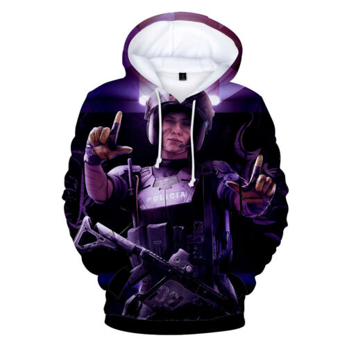Rainbow Six Siege Cosplay Hoodies Men/'s Casual Sweat-shirt Pullover Sports Manteau
