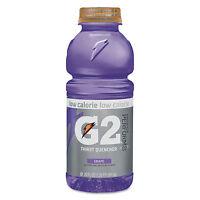 Gatorade G2 Perform 02 Low-calorie Thirst Quencher Grape 20 Oz Bottle 24/carton