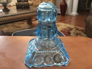 AQUA-BLUE-GLASS-LAMP-BASE-VINTAGE