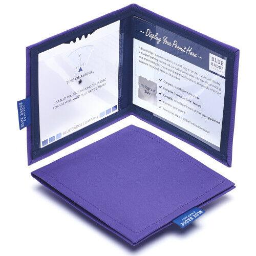Blue Badge Co Disabled Permit Protector Wallet Holder Hologram Safe in Purple