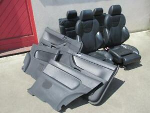 RECARO-Lederausstattung-Audi-A3-S3-8L-Sportsitze-Sitze-Ausstattung-LEDER-schwarz