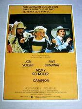 THE CHAMP Original BOXING Movie Poster JON VOIGHT FAYE DUNAWAY RICKY SCHRODER