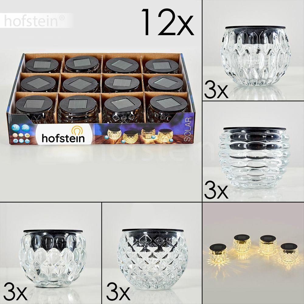 LED lámparas decorativas 12er set jardín exterior mesa balcón terrazas iluminación solar