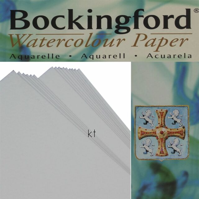 Hot Pressed 1//4 Imperial 20 x Bockingford Watercolour Paper 300gsm 140lbs