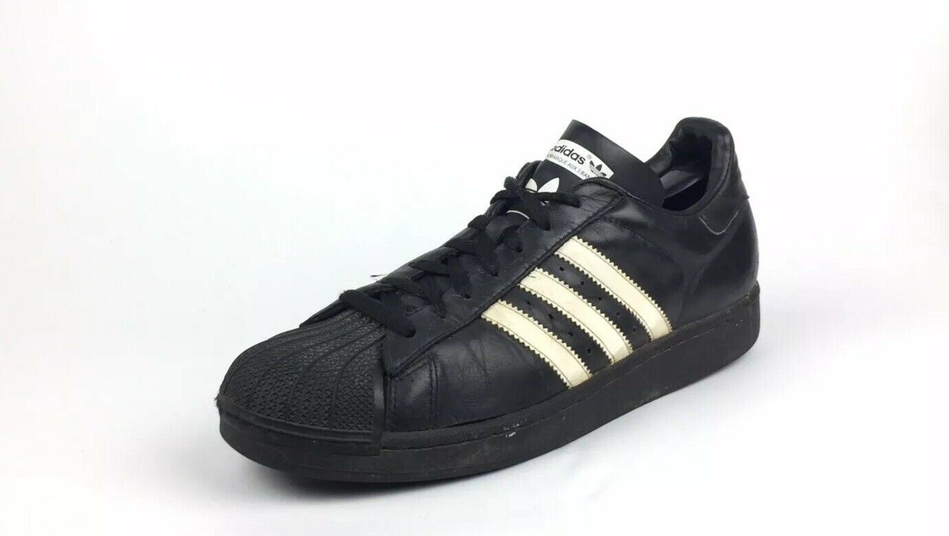 Adidas Superstar Men's Black Leather Athletic Running Casual shoes Size 11   120