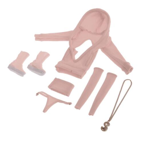 1//6 Female Clothes Set for 12/'/' HT Phicen Kumik CY CG Girls Figure Body Pink