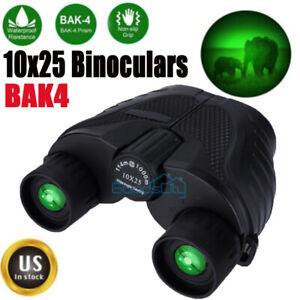 10x25 Zoom HD Binoculars Starscope W/ Night Vision Telescope BAK4 Optics