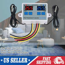 Incubator Dual Digital Temperature Controller Thermostat Tester 110 220v S7a6